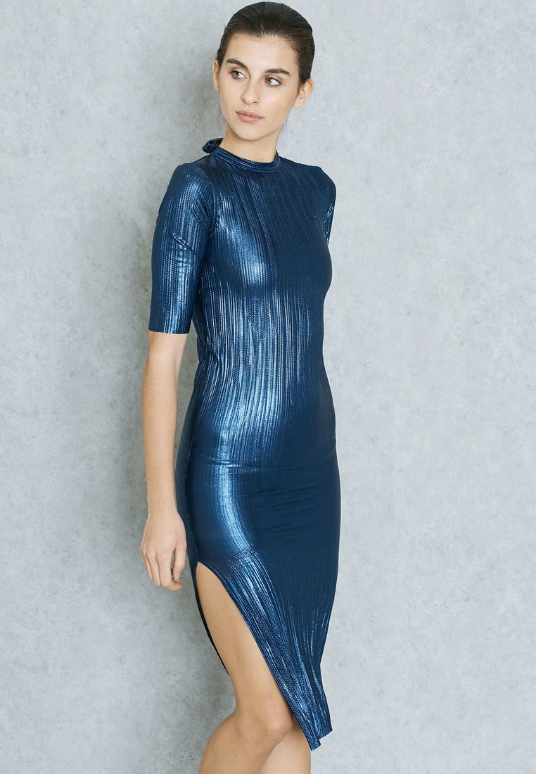 MANGO//Metallic Bodycon Dress//239 AED/SAR