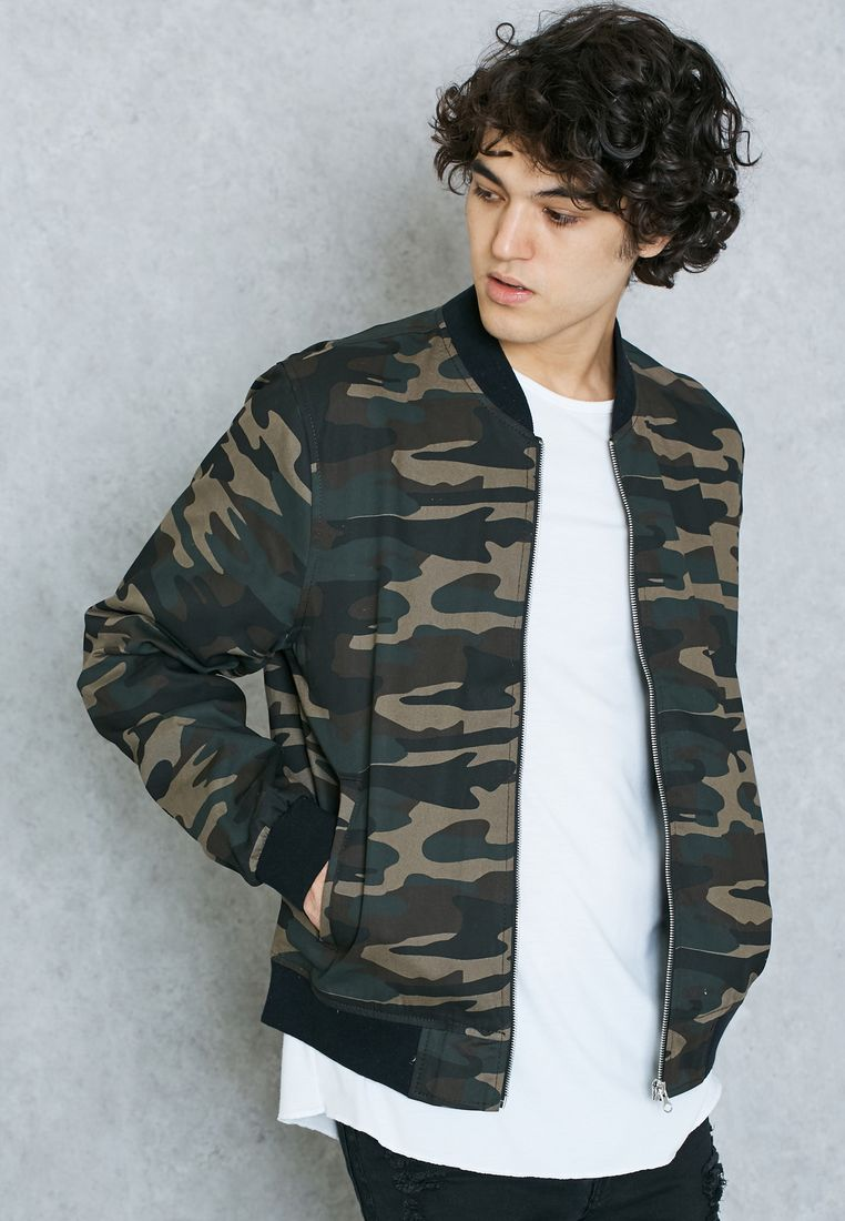 NEW LOOK//Camo Print Bomber Jacket//229 AED/SAR