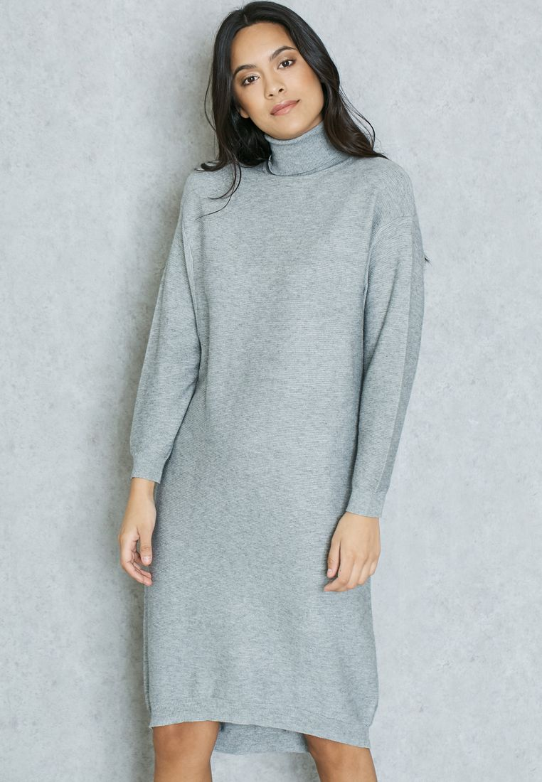 GINGER//Polo Neck Sweater Dress//129 AED/SAR