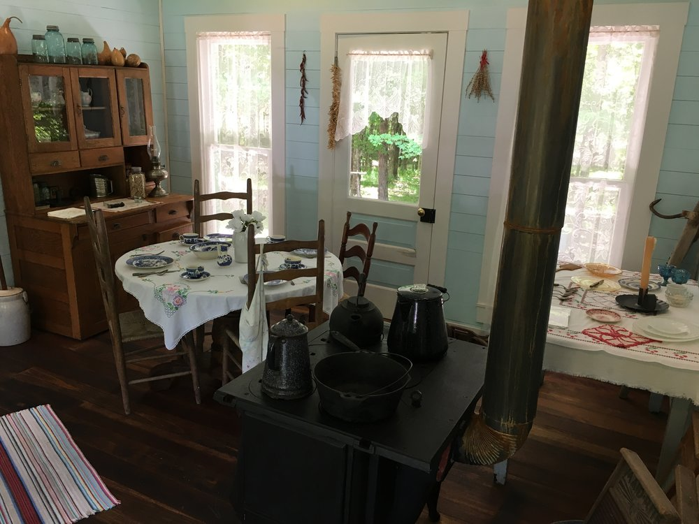 The kitchen/parlour at Bill Monroe's homeplace, Rosine, KY