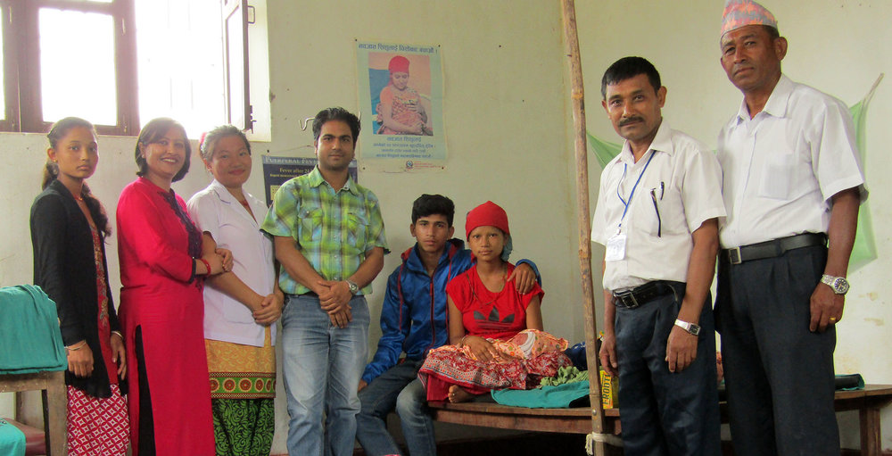 A combination of skilled personnel on duty, basic equipment and swift management saved this young mother's life