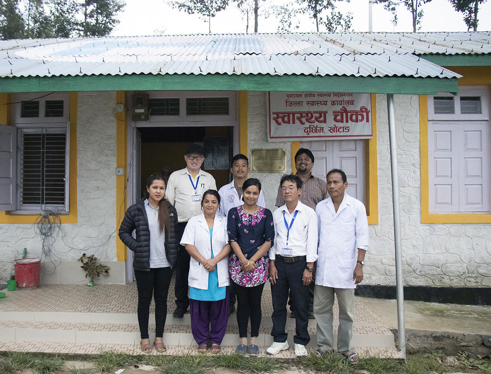 Staff at the Durchhim health facility