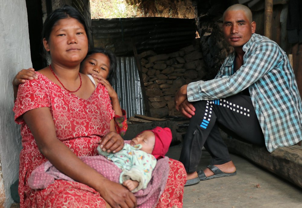 Salina's husband and two children. She lost two other children and her mother-in-law to the earthquake.