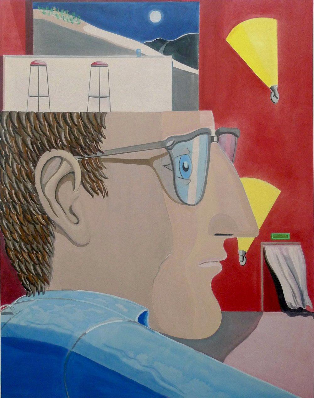 Night Customer  2014 Acrylic on canvas, 178 x 138 cm
