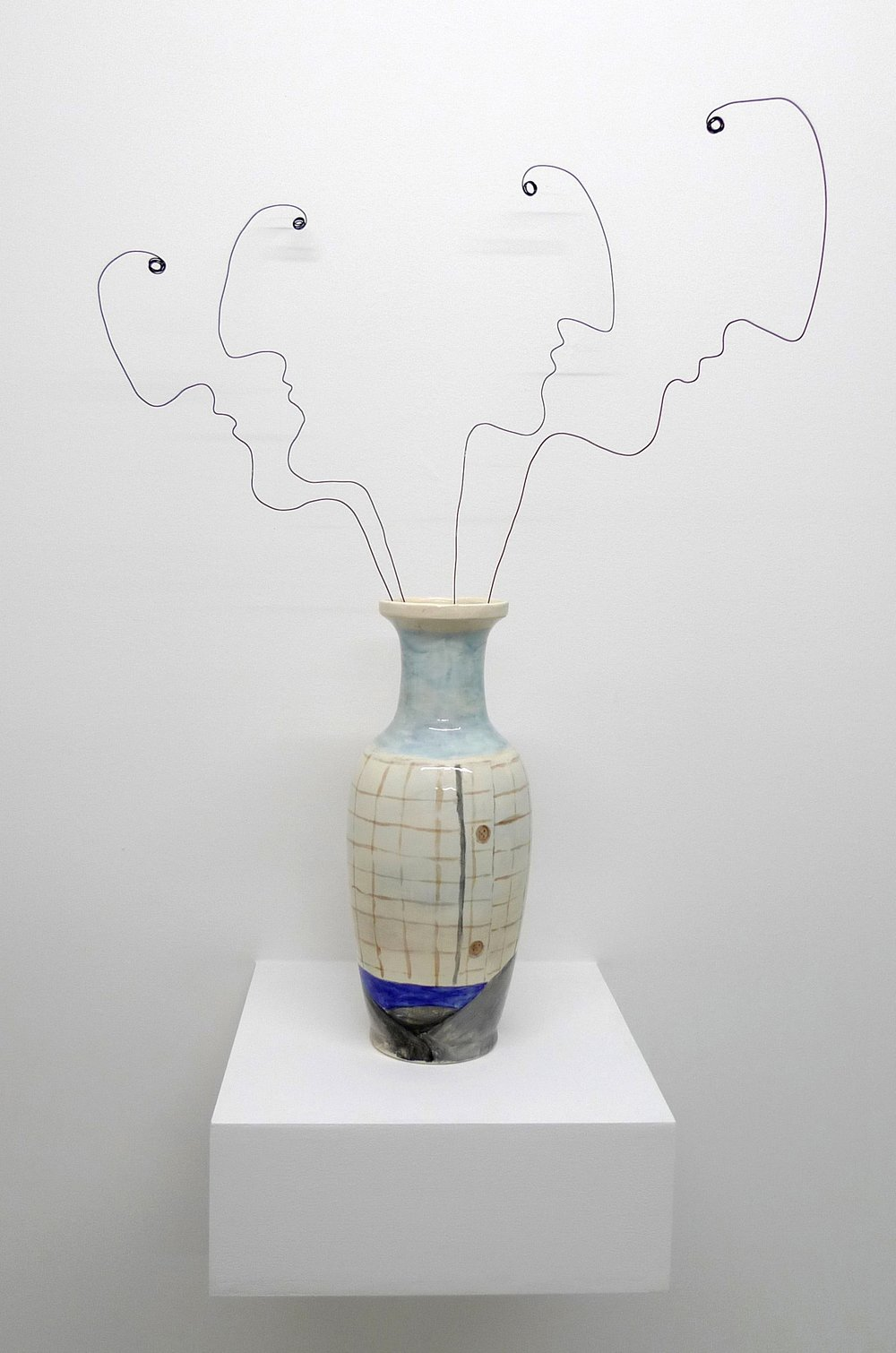 Escape  2013 Painted ceramic vase and metal wire, 64 x 45 cm  Private Collection