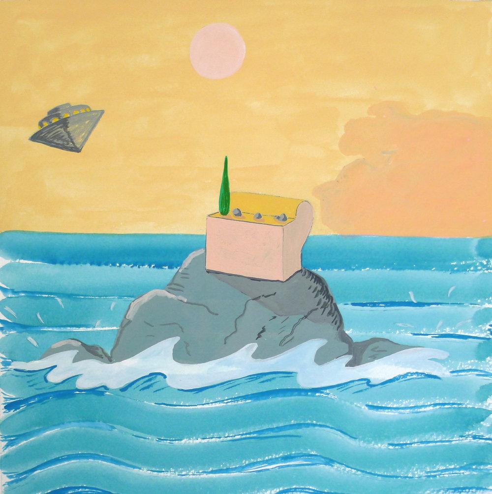 Lifestyle Apocalypse  2016 Gouache on paper, 26 x24 cm