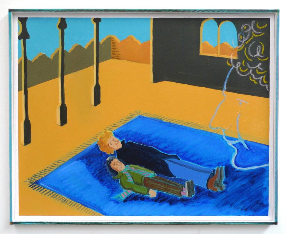 Art Garfunkel Remembers Arabia  2012 Oil and oil pastel on paper in artist's frame, 41.5 x 51.5 cm