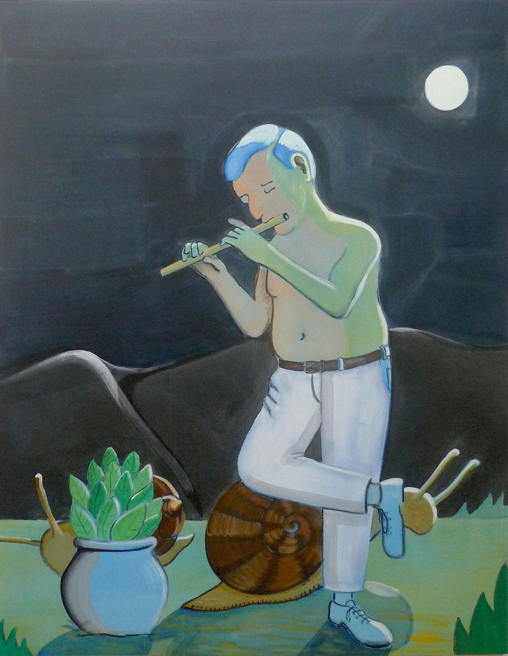 Music for Snails  2014 Acrylic on canvas, 180 x 138 cm