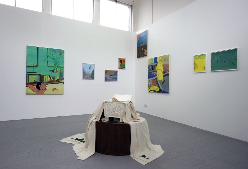 Installation view, Slade Degree Show, 2011 (object in foreground by Anna Bunting-Branch)