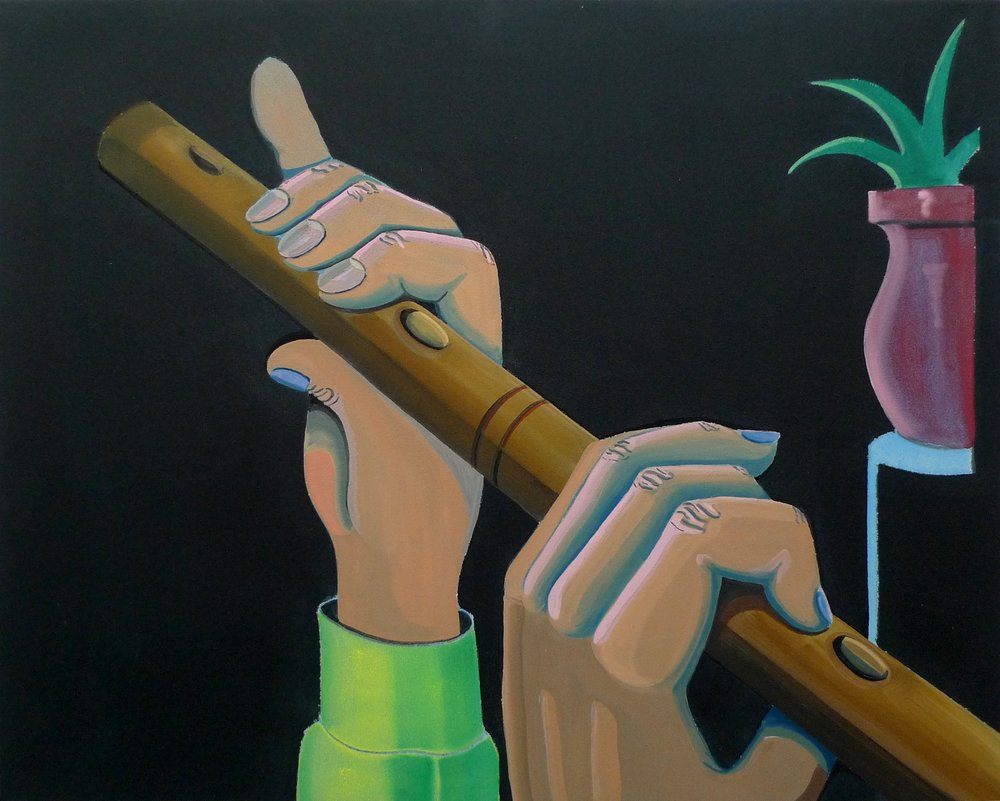 Blow in the Dark  2015 Acrylic on canvas, 79 x 100 cm