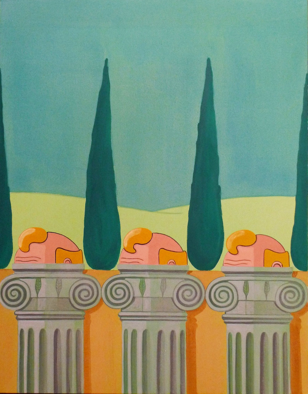 Columns  2014 Acrylic on Canvas, 100 x 78 cm  Private Collection