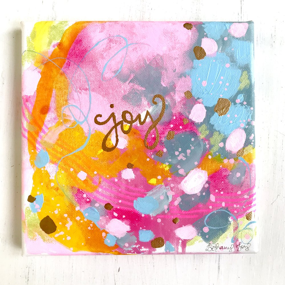 neon pink and gold joy painting.jpg