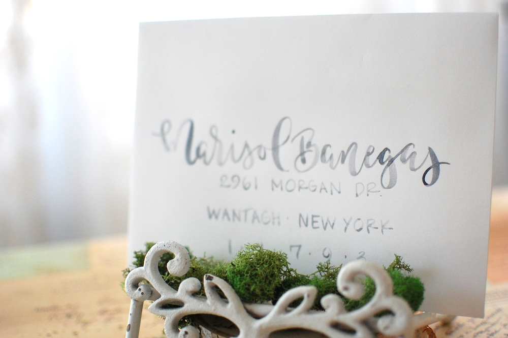 Allison Vaz Designs Watercolor Calligraphy
