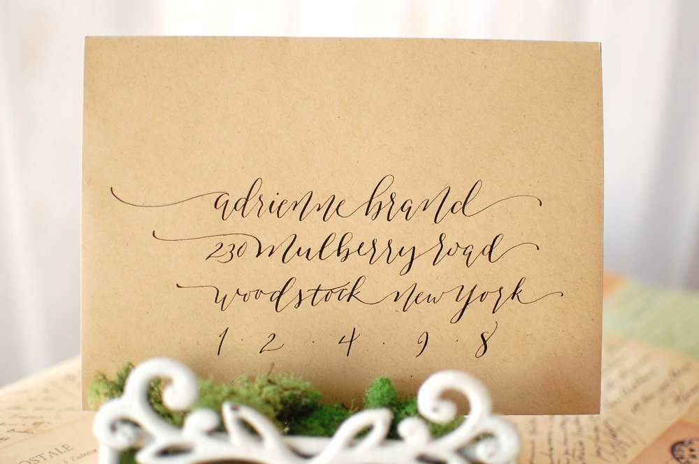 Allison Vaz Designs Envelope Modern Calligraphy