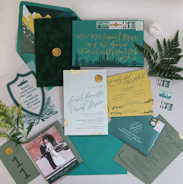 Around this time last year, @icandothat_design wedding invitations hit her guest's mailboxes! As much as I helped with them, nothing compared to opening this amazing package. Jenna put so much thought and time into every single detail. And what started as something as simple as me gifting to her her's and Vince's names for the invitation, turned into me adding more calligraphy, us printing the suite together at @the__arm, speaking to each other almost everyday, her helping me with design questions as I find my groove in the design world, having dinner at each other's houses monthly, and just, in general, having an amazing friendship. 😍😍 I love this suite for its beauty but also for the friendship that it represents. 📷: @kyliemones . . . . #calligraphy #calligrapher #weddingcalligraphy #envelopecalligraphy #nomoreboringenvelopes #ohsobeautifulpaper #dailydoseofpaper #paperlove #stationery