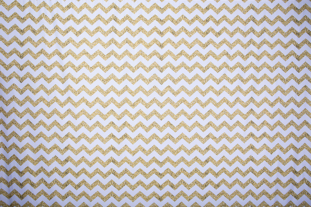 Copy of GLITTERY GOLD CHEVRON