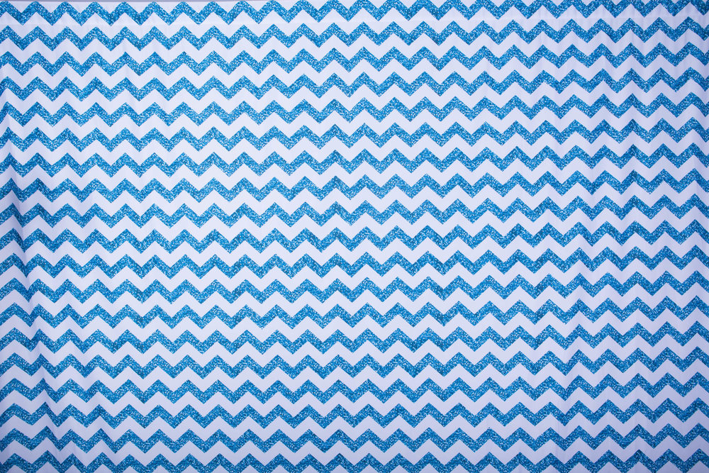 Copy of GLITTERY BLUE CHEVRON