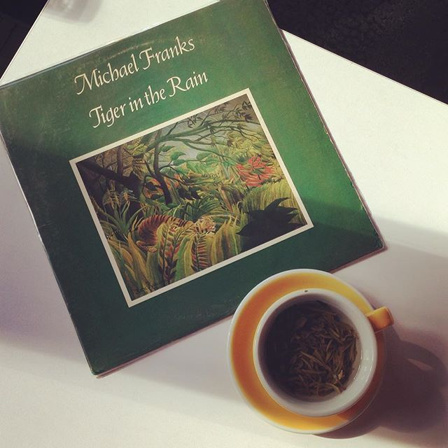 Start my week early with music and tea #Monday #PRLife #vinyl #MichaelFranks #analog #music