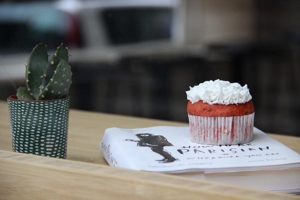 Banana Red Velvet style Cupcakes