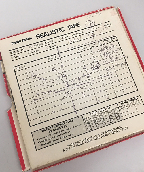 One of Max Huber's original tape recordings, which is played during the fermentation process