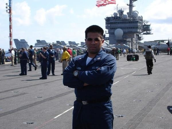 On the deck of USS Kitty Hawk CV-63 during Operation Iraqi Freedom.