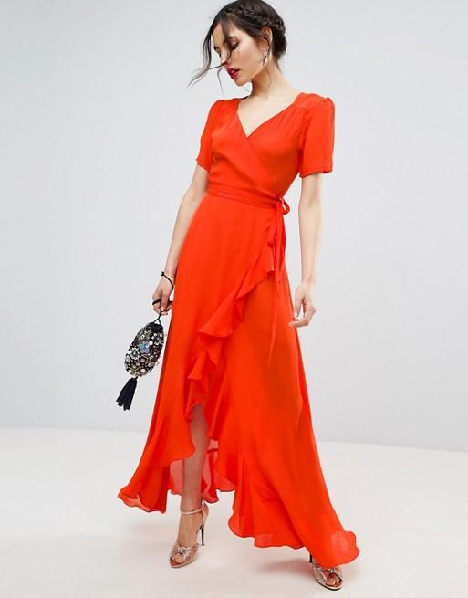 Tea Dress with Ruffle - ASOS  £45