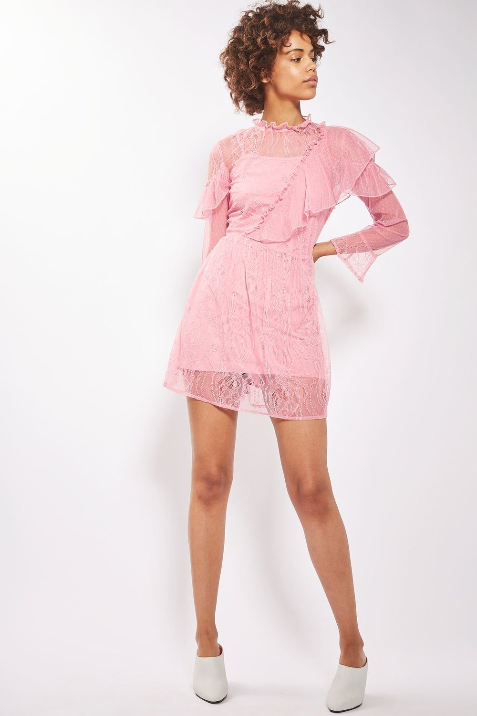 Flute Sleeve Lace Mini Dress - Topshop £38