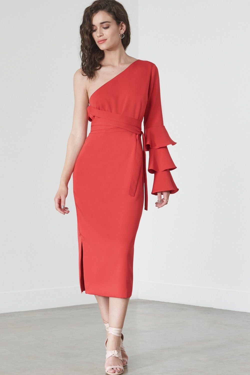 Ruffle Single Sleeve Dress - Lavish Alice  £78  ( Editors pick )