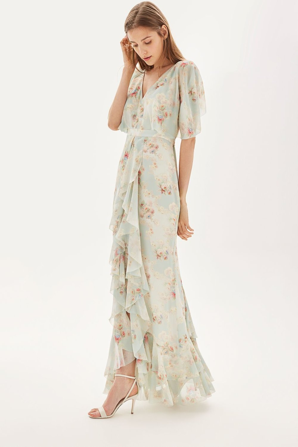 Muted Floral Print Maxi Dress - Topshop £165