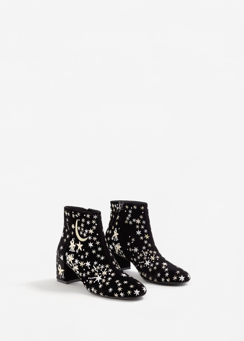 Stars embroidered ankle boots - mango £69.99