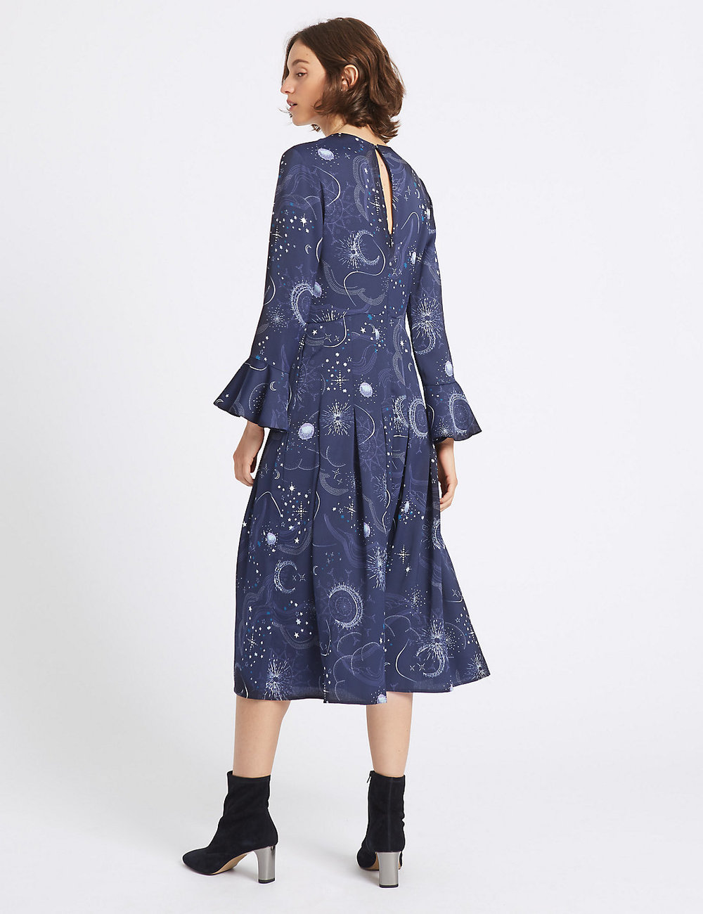 Constellation print long sleeve dress - Marks & spencers £45.00