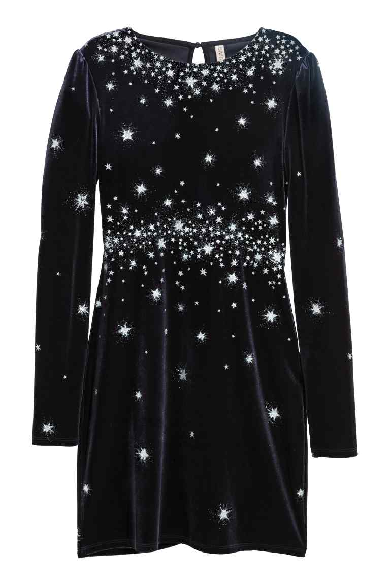 Glittery velour dress - h&m £24.99
