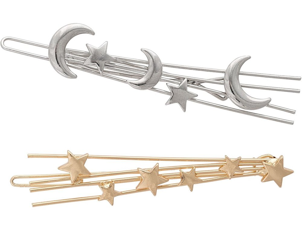 MOON & star hairclips - oliver bonas £12