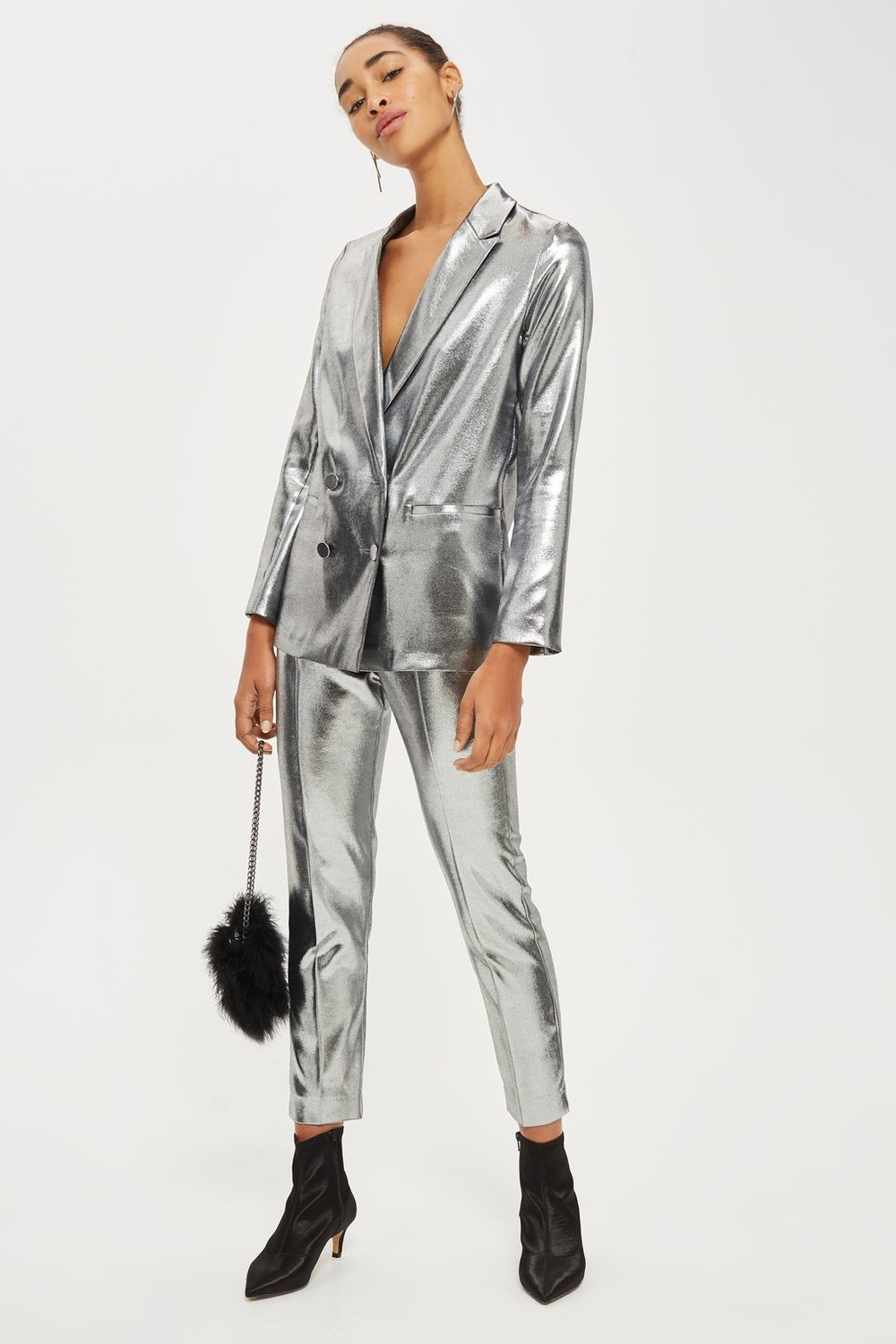 Metallic suit - topshop £100