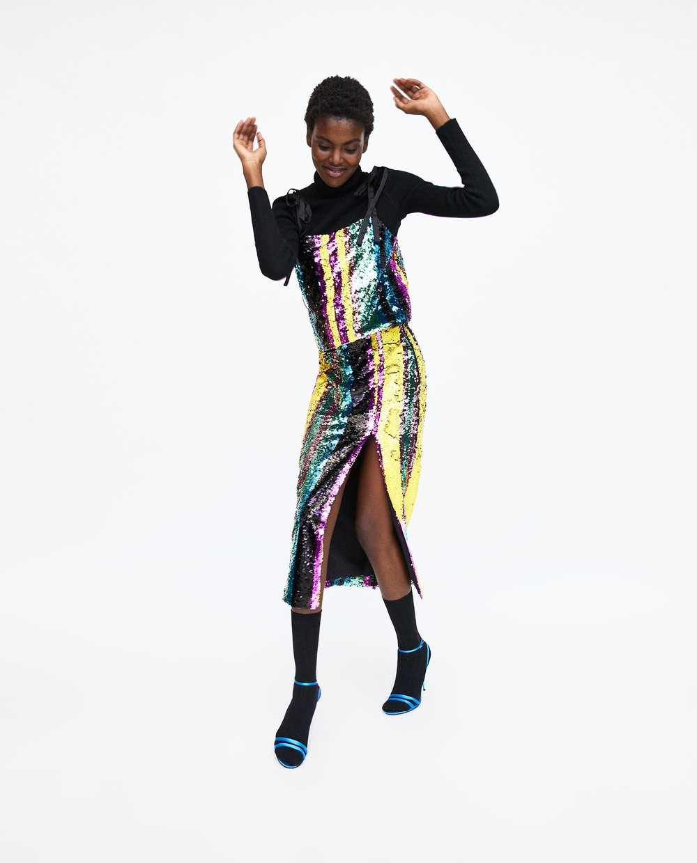 Multi COLOuRED sequin co-ord - Zara