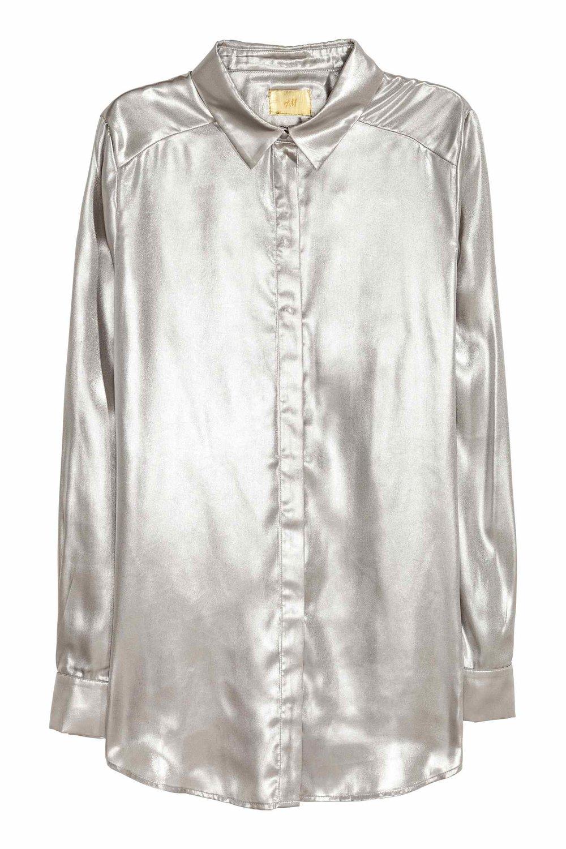 Shimmering metallic shirt - H&M £34.99