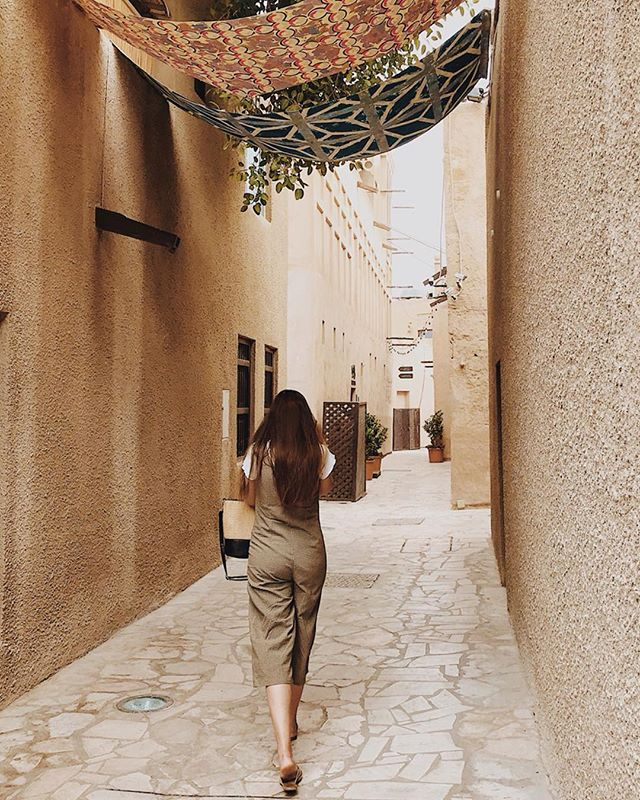 Collectively we took a total of 12 photos in Dubai and @webson93 didn't even give me a chance to sort out my jumpsuit wedgie before this one. #dubailife #olddubai #artdistrict #dubailifestyle #dubai
