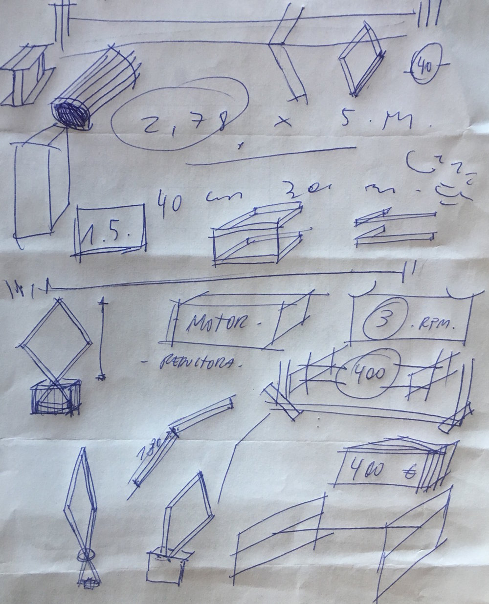 Lolo y Sosaku's first sketches for  Omul mulțime/Hombre masa
