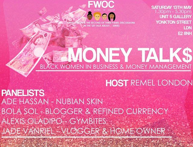 Tickets are now available for our next event MONEY TALK$! From starting a business, to saving for a mortgage and even getting out of debt! We have got all your money worries covered at our next event!  Get your tickets via @eventbrite just search FWOC or click the link in our bio! #LTABusiness #moneymanagement #saving #businessstartup