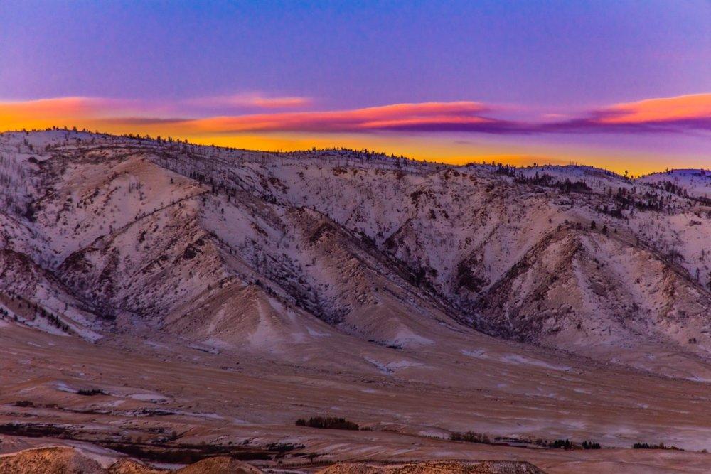 Sunrise over  Casper, WY
