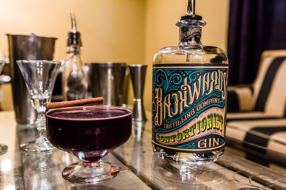Contortionist Gin Cocktail at  Backwards Distillery