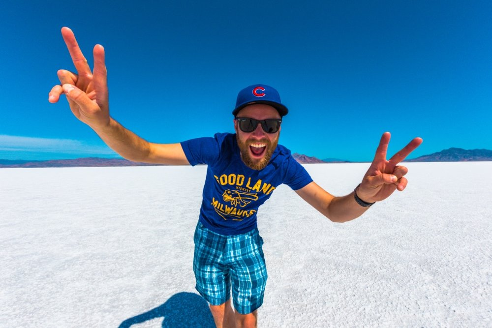 Me at the Salt Flats in Utah