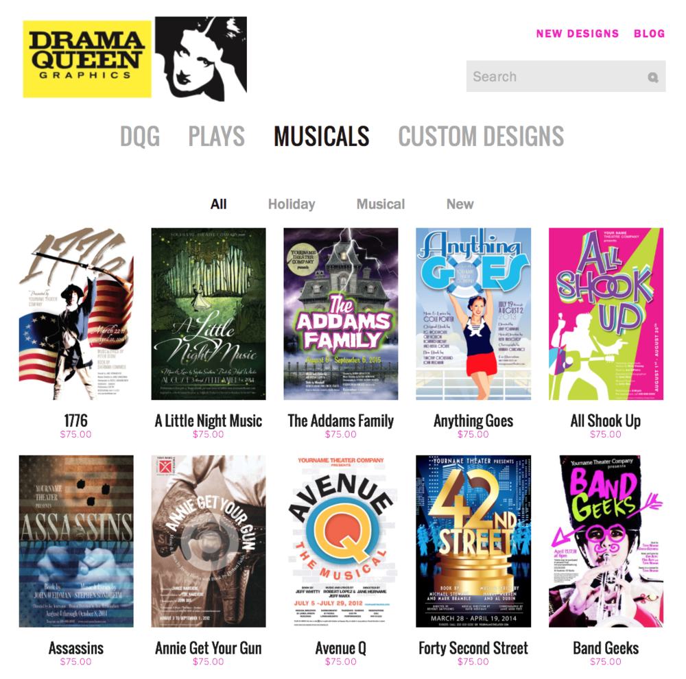 Or simply browse through our collection of over 300 plays and musicals.