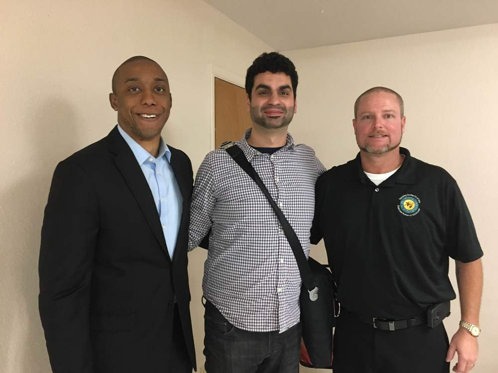 Chike Aguh, along with Danilo Campos of GitHub and Scott Grossfield of Choctaw Nation, arranged a device donation event to   members of the Choctaw Nation in Oklahoma, as part of the ConnectHome initiate.