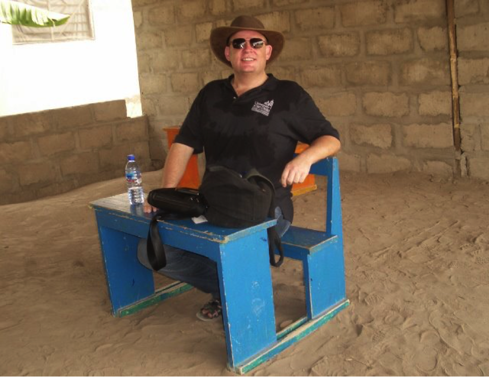 The writer on assignment at an affordable private school in Ghana.