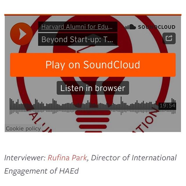 Visit the link in our bio to listen to our new podcast series! This one explores taking the next step in entrepreneurship. #HarvardAEd