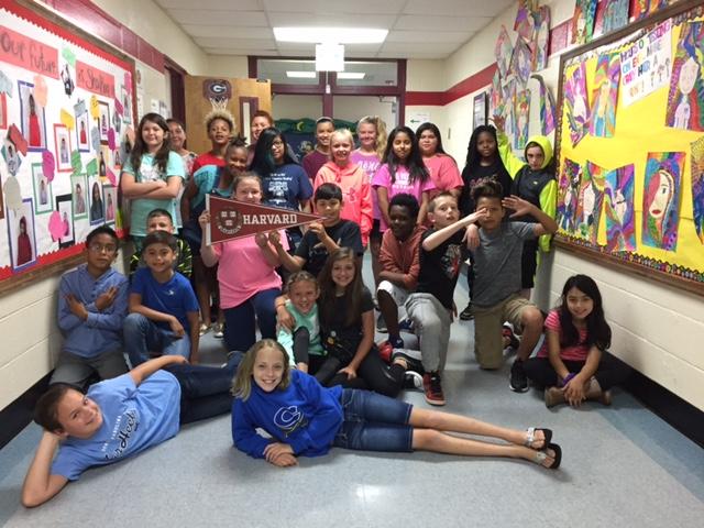 Georgia's fifth grade class.