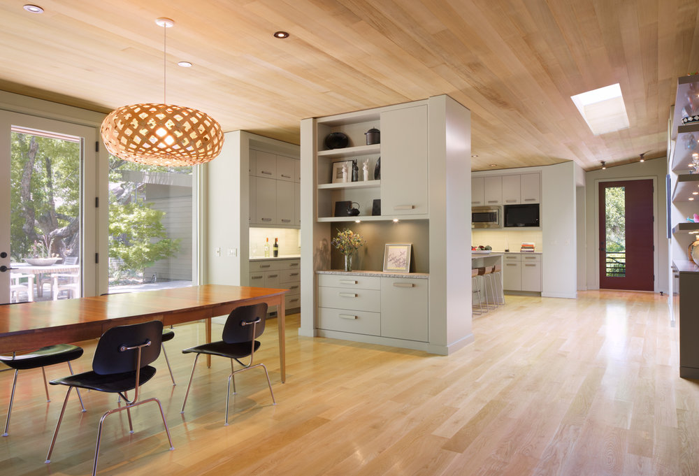 Residential architecture - Interior of dining room and kitchen