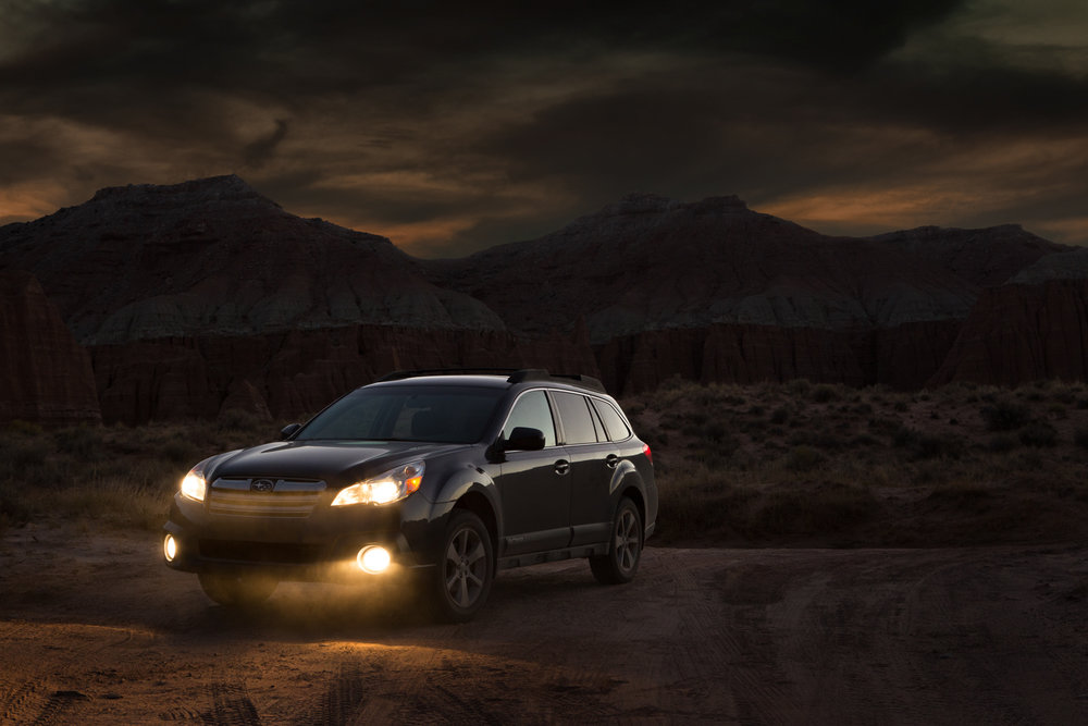 Automotive - Subaru desert twilight