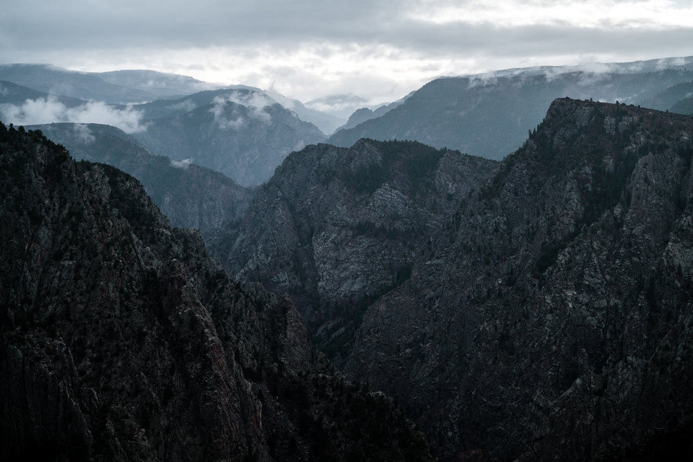 Morning fog clears over the Black Canyon of the Gunnison